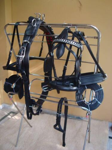 Driving Harness For Single Horse Black Leather
