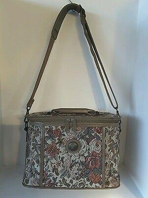 Vintage Jordache Tapestry Floral Cosmetic/Toiletry  Bag