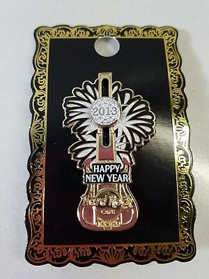 Hard Rock Cafe 2013 Happy New Year Fireworks Slider Ball Guitar Pin Limited