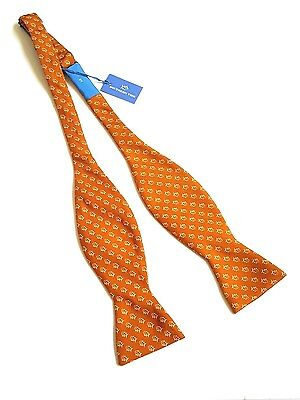 Southern Tide Bow Tie 100  Silk Skipjack Copper Fish Made In Italy