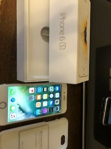 Gold iPhone 6s 32GB, with box and warranty, factory unlocked