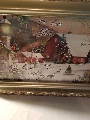 Cottage Garden Christmas Music Jewelry Box Plays Jingle Bells