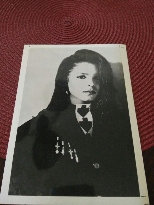Janet jackson 5x7 Promo Publicity Photo Picture B&W