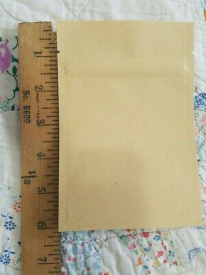 40 Flat Brown Kraft Zip Lock Recloseable Bags Pouches Plastic Interior -10x15cm