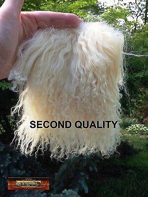 M00460 MOREZMORE Tibetan Lamb Fur ITALIAN STRAW BLONDE Seconds Doll Hair A60