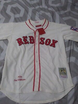 1939 Ted Williams Boston Red Sox Cream Jersey Size Men's XXL sz 52