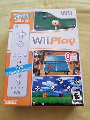Wii Play Wii Remote Bundle Nintendo Wii Video Game New , sealed