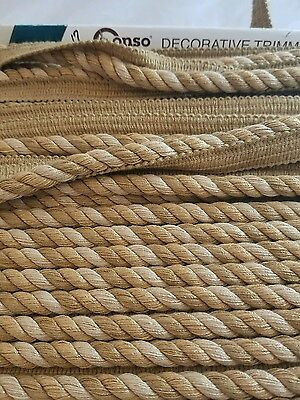 6.5Yd Cord w lip Decorative Trim Pillows Crafts Home Decor Holiday Sewing ()