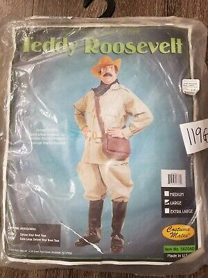 X Adult Costume Mates Teddy Roosevelt Halloween Costume Size L ***NO HAT*** (Teddy Roosevelt Costume)