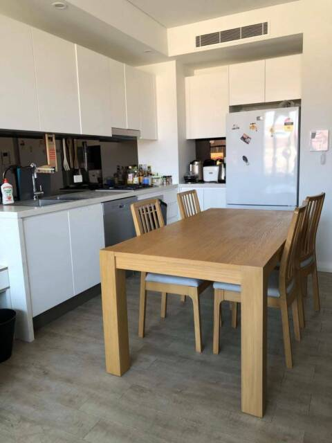 Ikea dining table with 2 chairs EKEDALEN/ BERNHARD ...