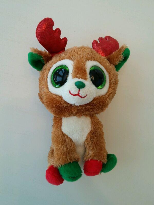 c7be93ba391 TY Beanie Boos Alpine Reindeer 2013 Red Antlers Glitter Eyes 6 ...