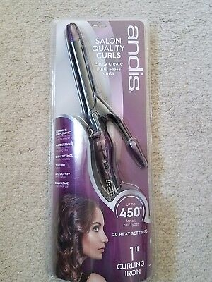 And Is 1 Inch Curling Iron (Andis Tourmaline Nano Ceramic Curling Iron, Purple, 1 Inch )