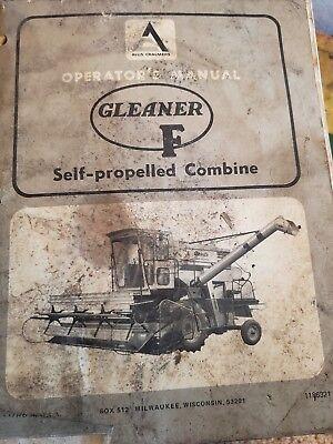 Allis Chalmers Gleaner F Self-propelled Combine Operators Manual