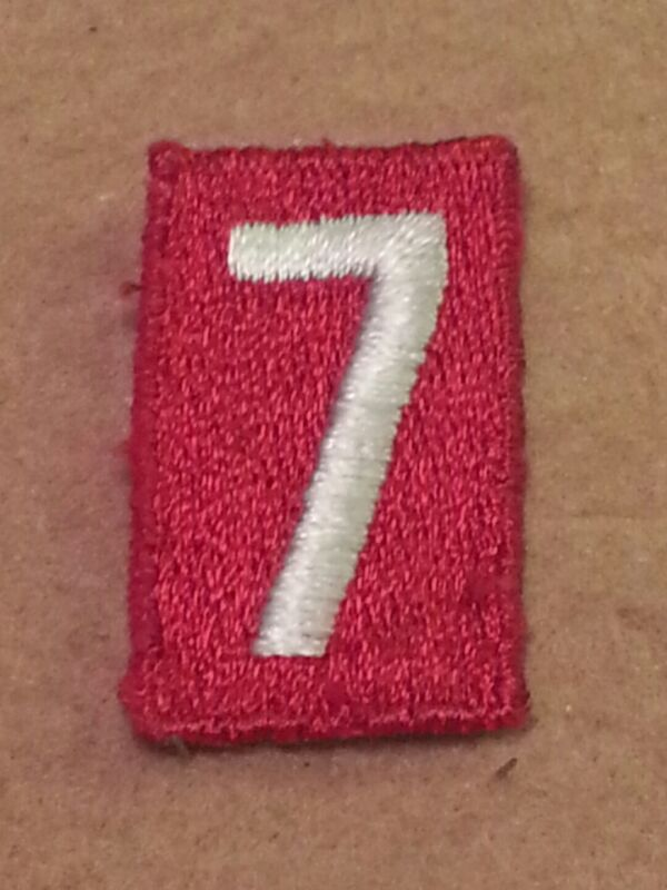 BSA RED TROOP UNIT NUMBER 7 - FULLY EMBROIDERED VERTICAL 1960