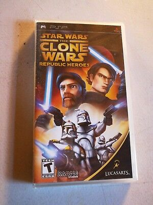 New Star Wars The Clone Wars Republic Heroes Sony Playstation Portable Psp Game