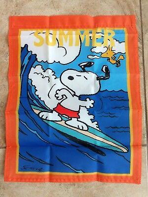 Snoopy Summer (Peanuts Snoopy Summer 14x18 inches Garden Flag Beach Ocean)