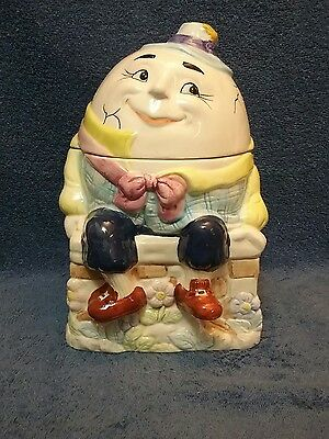 vintage humpty dumpty cookie jar bico
