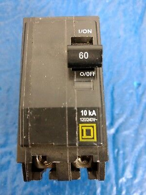 New No Box-square D 60a 2p Qob260 10ka 120240v Circuit Breaker