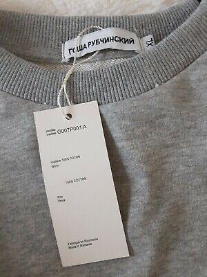 Gosha Rubchinskiy Combo Split Crewneck Sweatshirt Black/ Grey - Size XL Large