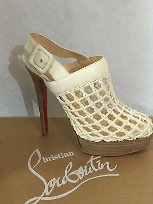 Christian Louboutin Coussinet 140 cage booties sandals heels shoes 36 NIB $1450