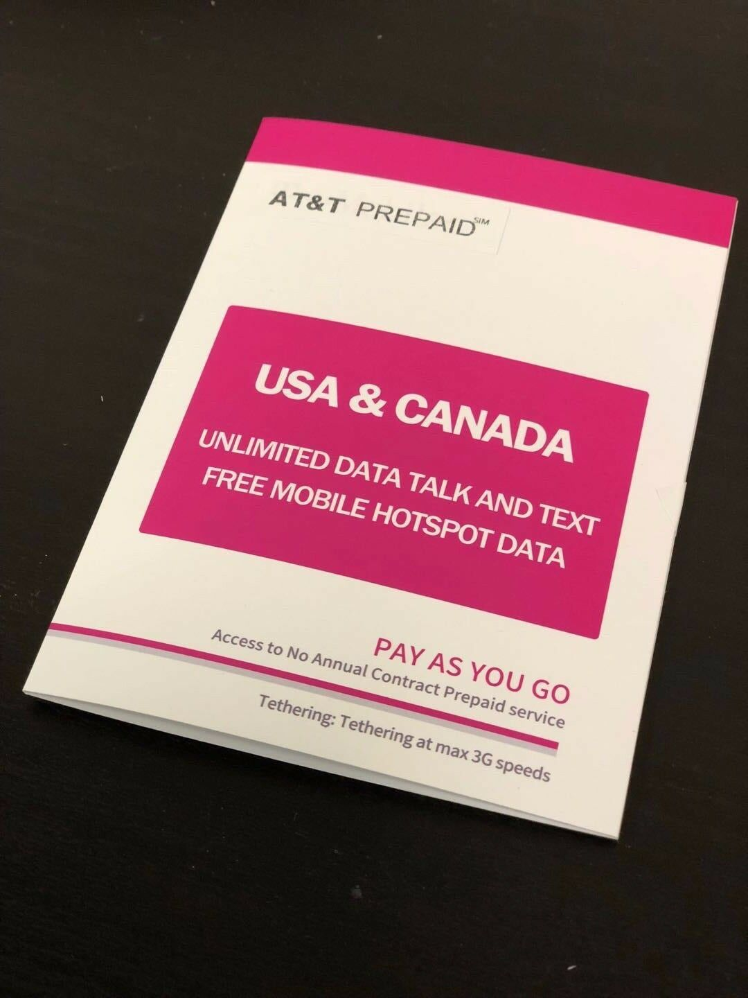 MEXICO /& CANADA INCLUDED AT/&T UNLIMITED MIN//TEXT//DATA Phone Line No throttling