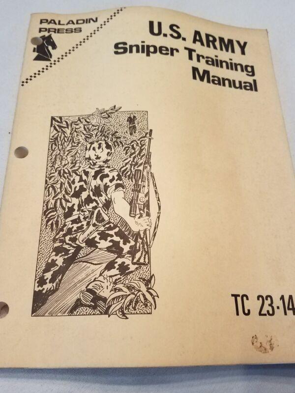 Sniper training 1969 training manuel  tc 23 14 reprint vintage