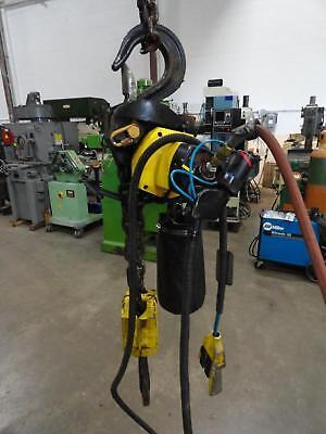 6-ton Duff-norton Pneumatic Hoist Md 12000 8 Lift Chain Hoist Air 12000lb