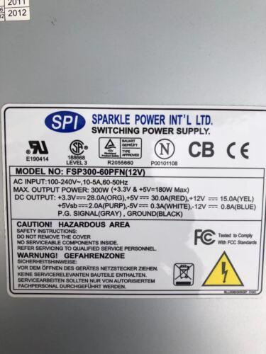 1pcs Used Fsp300-60pfn 12v