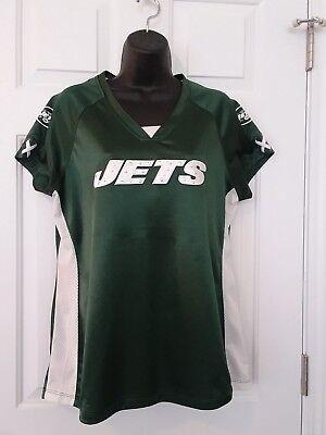 NFL Womens Shimmer NFL New York Jets Jersey Shirt Size L