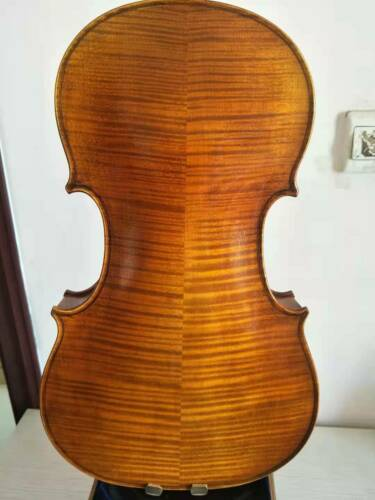 "Master 16.5"" Viola Solid flamed maple back old spruce top hand made K1261"