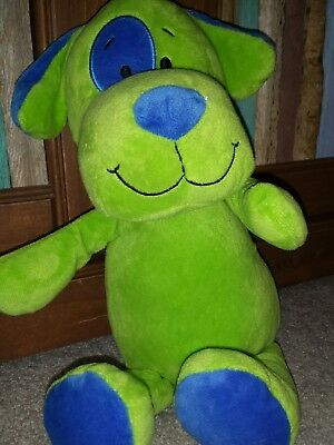 Beverly Hills TEDDY BEAR COMPANY GREEN BLUE DOG PLUSH PLUSHY STUFFED - Teddy Bear Dog