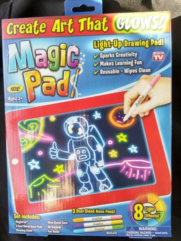Magic Pad Illuminating Screen for Drawing, Sketching and Creating. Glow Art. NIB