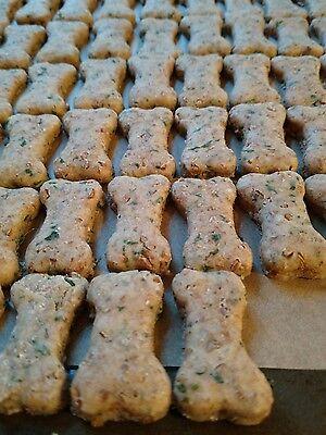 Pizza Bites/All Natural dog treats, Handmade, bone shaped, (68 Cookies) per All Natural Dog Cookie
