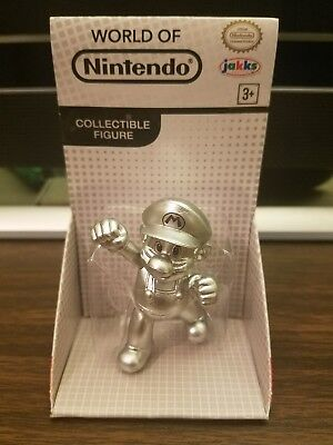 World Of Nintendo Metal Mario Jakks Pacific 2 5 Inch Silver