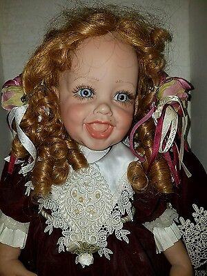 FAYZAH SPANOS strawbery blonde blue eyed smiling happy baby girl doll 224/1000