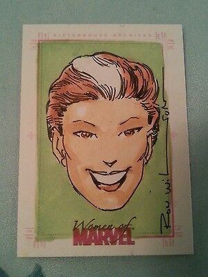 WOMEN OF MARVEL SKETCH TRADING CARD BY RON WILSON
