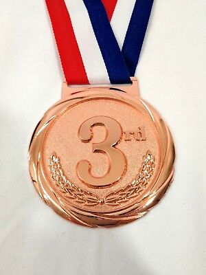 Bronze Medal 3rd Place Award Large Olympic Size Medallion