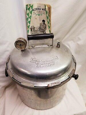 Canning Pot (BURPEE Can Sealer CANNING POT ALUMINUM PAN PRESSURE COOKER no 1 wood handles)
