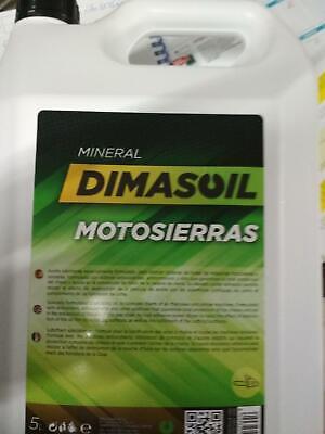 ACEITE PARA CADENAS DE MOTOSIERRAS DIMASOIL,5LT.MINERAL.