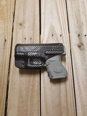 Concealment Holster - Concealment Fits Glock 26, 27, 33 Black Carbon Fiber Kydex holster IWB right