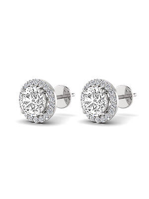 (6.00 Carat Round Big Diamond Earrings 18KT White Gold Stud Earrings)