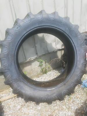 Two 15.5x38 Farmall 756 R 1 Bar Lug 8 Ply Tractor Tires