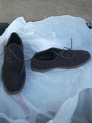 Harrison Myles Men's Brown Suede Wing Tip Shoes Size 7(M)...