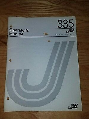 Jay Cash Register 335 Operators Manual