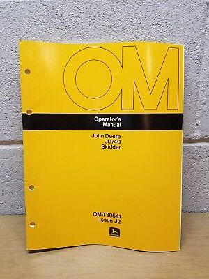 John Deere 740 Skidder Operators Manual Om-t39541 Issue J2