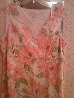 Tommy Hilfiger Floral-Print V-Neck Cotton Sundress Size 16 Floral Print Cotton Sundress