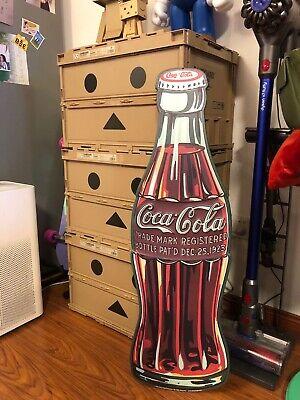 """Coca cola Bottle Coke Die Cut Embossed Premium Metal Tin Sign Vintage Garage 35"""""""