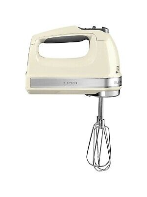 KITCHENAID 9 speed Hand Mixer, Almond Cream NEW Boxed with different attachments