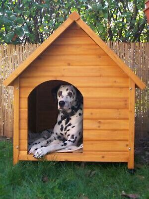 Wooden Dog Kennel garden House Weather Proof Shelter Outdoor Home Medium