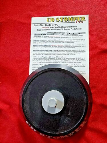 """""""CD Stomper"""" with manual and blank labels for jewel case inserts"""